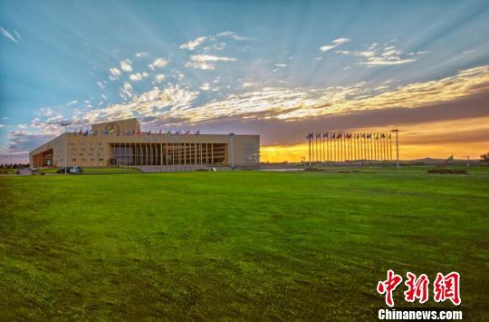 图为库布其国际沙漠论坛会址。鄂尔多斯宣传部供图