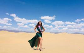 塞外有佳人,世界旅游小姐冠军走进巴彦淖尔!