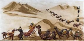 国内首创的独特壁画——阴山石粘画